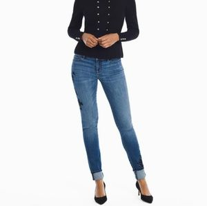WHBM | Embroidered Skinny Ankle Jean